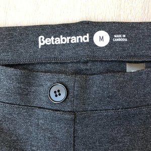 Betabrand Charcoal Dress Yoga Pants Boot Classic M